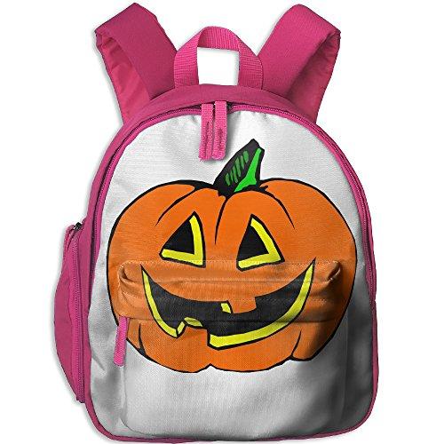 Floral Print Backpack Cute Halloween Pumpkin School Backpack Bookbag Kids Gift Ideas For Kids Boys Girls