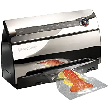 FoodSaver v3860 Automatic 2-Speed Vacuum Sealer with Roll Storage and Cutter, includes Starter Kit of Premium Bags/Rolls