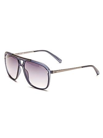 2935744d1c29 GUESS Factory Men s Oversized Navigator Sunglasses - Blue - NS ...