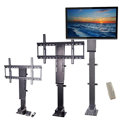 pinty heavy duty motorized tv lift stand with remote control for big panel tvs 30 to 60 in. Black Bedroom Furniture Sets. Home Design Ideas