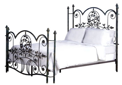 Corsican Iron Bed (Corsican Hudson Blue Bird Bed - Queen Size)