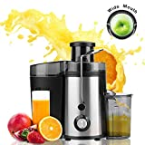 Juicer Juice Extractor, 65mm Wide Mouth Stainless Steel Centrifugal Juicer, BPA-Free, Non-Slip Feet, Three Speed Juicer Machine for Fruits and Vegetable