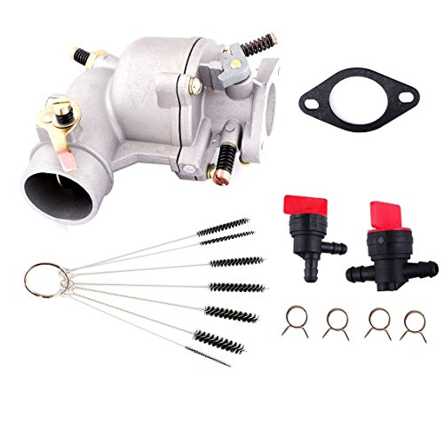 - Podoy 390323 Carburetor for Briggs and Stratton with Cleaner Cleaning Tool Fuel Shut Off Valve Gasket 394228 7HP 8HP 9 HP Engine Lawn Mower