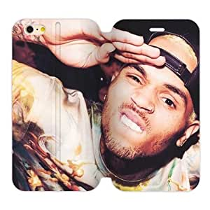 Chris Brown Personalized Custom Flip Cover Case For iPhone6 Plus 5.5""