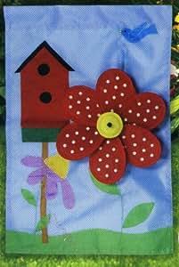 Birdhouse Pinwheel Banner Garden Flag, 12-inch X 18-inch