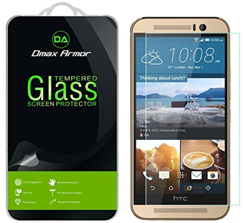 [2-Pack] Dmax Armor for HTC One M9 [Tempered Glass] Screen Protector with Lifetime Replacement