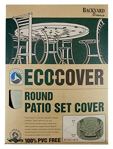 Mr. Bar-B-Q Backyard Basics Eco-Cover PVC Free Premium Round Patio Set Cover