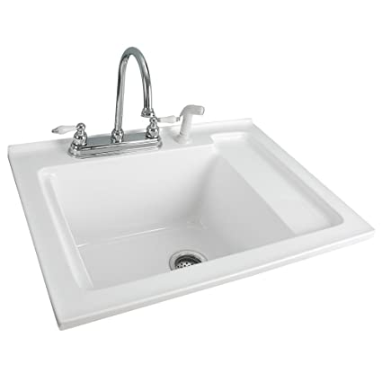 Etonnant Foremost LS 3021 W Berkshire White Acrylic Laundry Sink With Shelf