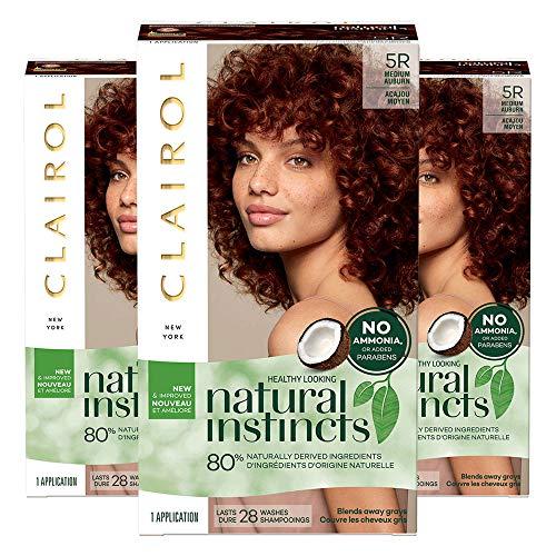 Clairol Natural Instincts, 5R Medium Auburn, Cinnaberry, 3 Count Clairol Auburn Hair Color