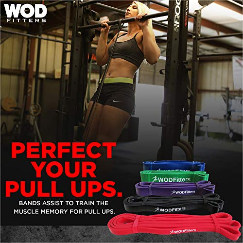 WODFitters Pull Up Assistance Bands for Workout, Exercise, Weightlifting, Strength Training, Powerlifting, Fitness…