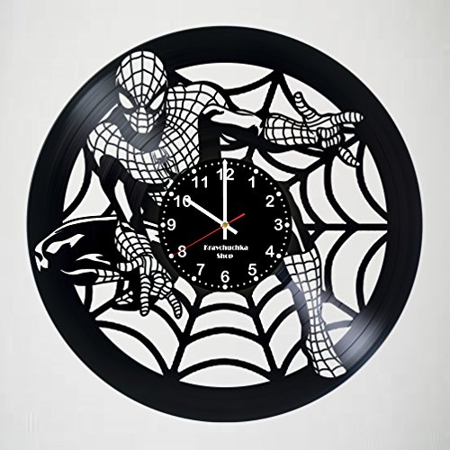 Spiderman Ps2 Ultimate Costumes (Spiderman Incredible Vinyl Record Vintage Wall Clock - COMICS gift wall decor Unique Living Kitchen Kids Room Wall Decor - Gift idea for children, teens, adults - Perfect)