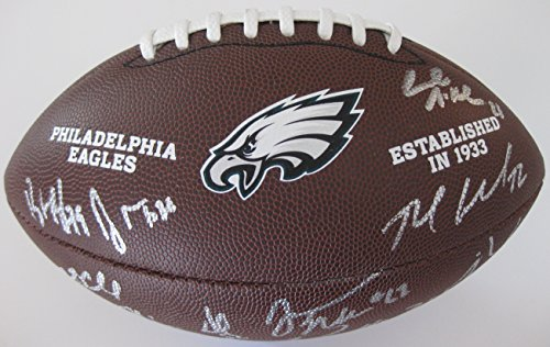 2017-2018 Philadelphia Eagles Team, Signed, Autographed, NFL Logo Football, a COA with the Proof Photos of Eagles Players Signing Will Be Included.