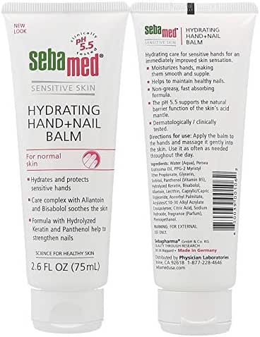 Sebamed Hand & Nail Balm, 2.6 oz(75ml), 2 Pack