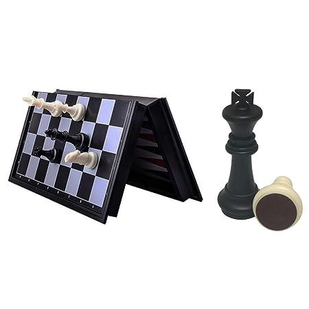 LOFAMI Juegos de Mesa Ajedrez 3 en 1 Ajedrez Juego de ajedrez ...