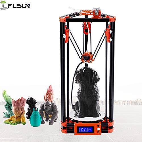 FLSUN 3d Printer Delta Kossel Diy Kit with Large 3d Printing Size Updated Nuzzle System Heated Bed Auto Leveling one roll filament gift US Stock