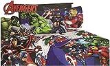 marvel bedding full - 4pc Marvel Avengers FULL Bed Sheet Set Superhero Blue Circle Bedding Accessories (Full)