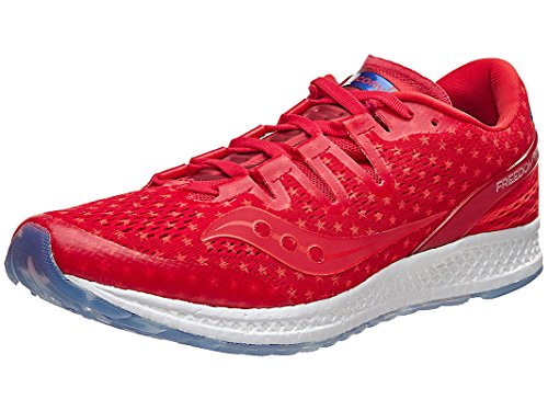 Saucony Freedom ISO Men Shoe Rd/Wh/Bl 14.0 D by Saucony