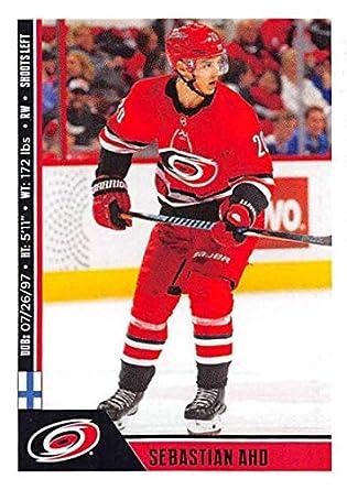 d2dd6da65ec 2018-19 Panini NHL Stickers  52 Sebastian Aho Carolina Hurricanes Hockey  Card