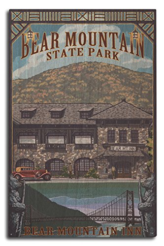 Lantern Press Bear Mountain Park, New York - Bear Mountain Inn (10x15 Wood Wall Sign, Wall Decor Ready to Hang)