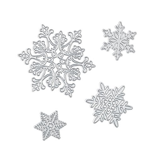 - Christmas Cutting Dies for DIY Scrapbook Supplies, Metal Die Cuts for Card Making, DIY Scrapbooking and Embossing Paper Craft (Snowflake)