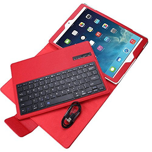 OLSUS Folding Wireless Keyboard for IPAD Air/Air 2/Pro2 9.7''- Red by OLSUS (Image #3)