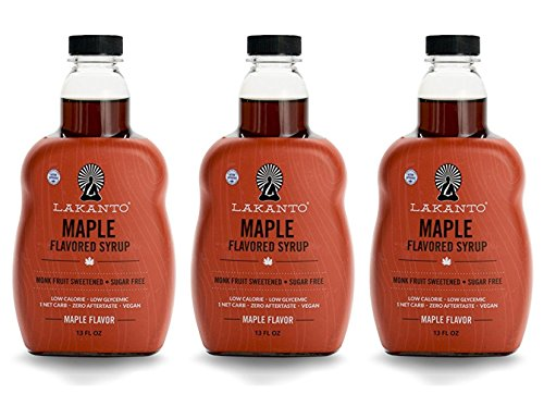 (Lakanto Maple Flavored Sugar-Free Syrup, 1 Net Carb (Maple Syrup, 3 Pack, 13 Oz))