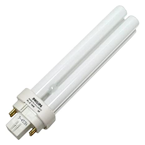 Philips Fluorescent Light Bulb, 1200 Lumen, PL-C 4 P, 18 W