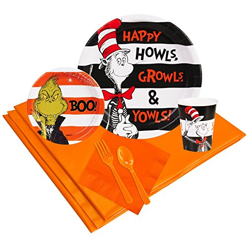 Dr Seuss Halloween Party Supplies Party Pack 24 - Dr Seuss Fish Costume