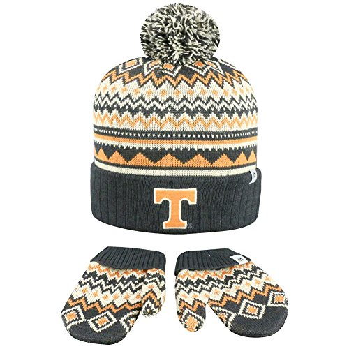 Top of the World Knitted Tennessee Volunteers Vols UT Toddler Beanie and Glove Set