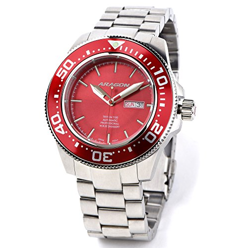Aragon-A066RED-Divemaster-T100-Automatic-45mm
