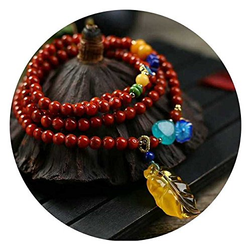 Generic ``Time``_ original handmade jewelry _red_ leaf _South_beeswax_amazonite_three_times_ bracelet s_ bracelet necklace pendant