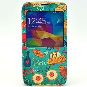 MOFY-Debajo del caso de la cubierta del coraz—n Torre Compatible con Samsung Galaxy i9600 S5