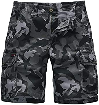 CHLCH Pantalones Cortos de algodón para hombresPantalones Cortos ...