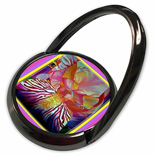 3dRose Taiche - Acrylic Painting - Iris - Iris- flower, flowers, abstract, birth month flower, twenty fifth wedding anniversary - Phone Ring (phr_78723_1) Acrylic Iris