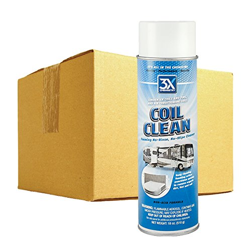 3X:Chemistry 13795 Foaming Coil Cleaner - 18 oz., (Case of 12) by 3X:Chemistry