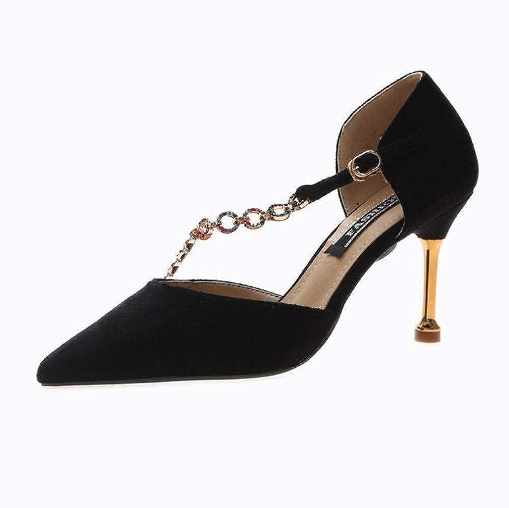 Spitze Einzelne Schuhe Weibliche Hohle Sandalen Stiletto Heels Wildleder Strass Mode Schuhe Schwarz