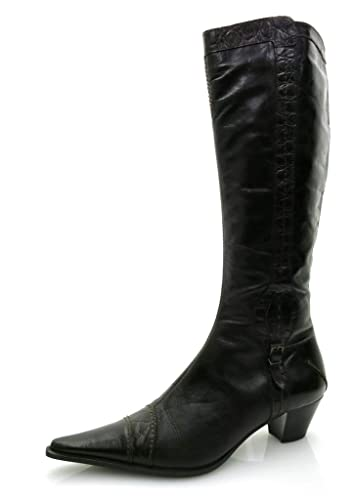 Lamica elegante Lederstiefel Lederschuhe Stiefel Schuhe Leder Langschaft 3160