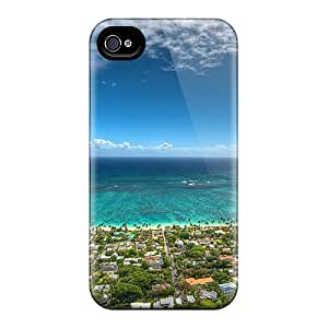 High Impact Dirt/shock Proof Cases Covers For Iphone 6 (aerial View Of Lanikai Beach Hawaii)