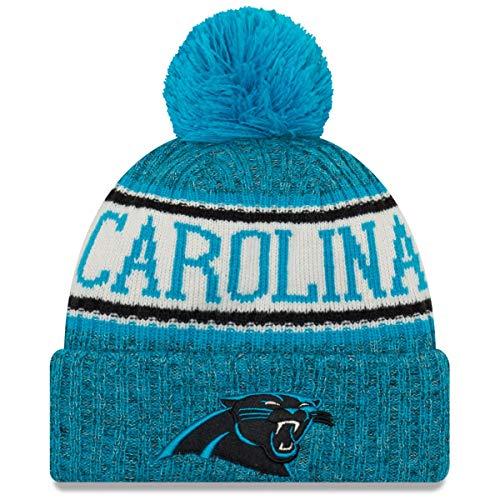 ERA Azul Gorro NEW con pompón RAMS Tejido Panthers Los A Carolina Angeles NFL 5HqxAH