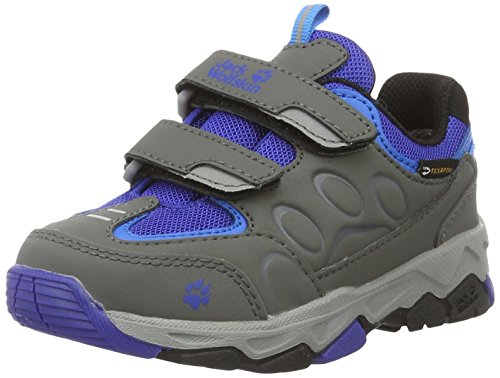 Jack Wolfskin Unisex-Kinder Mtn Attack 2 Texapore Low Vc K Trekking-& Wanderhalbschuhe Grau (active blue)