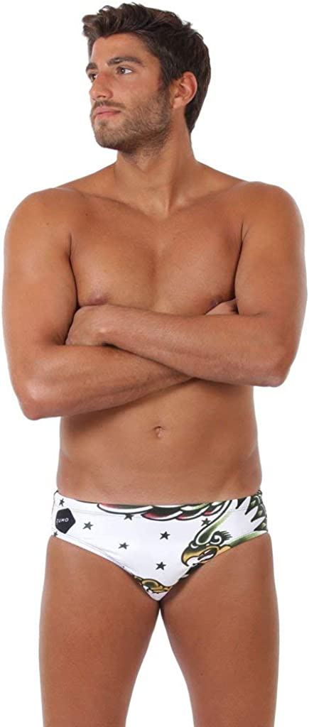 Mens Water Polo Swimsuit ZUMO Swim Tiger Tattoo Men/'s Athletic Swimwear Men/'s Active Swimwear Swim Briefs