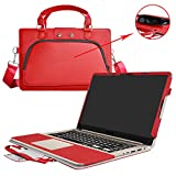 """ASUS S510 S510UA F510UA X510UQ Case,2 in 1 Accurately Designed Protective PU Leather Cover + Portable Carrying Bag for 15.6"""" ASUS VivoBook S510UA S510UQ F510UA X510UQ Series Laptop,Red"""