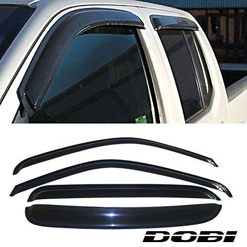 VioletLisa 4pcs Front Rear Smoke Sun/Rain Guard Vent Shade Window Visors for 99-00 Chevy/GMC C2500/K2500 92-00 C3500/K3500 Crew Cab 92-99 Suburban 95-99 Tahoe Yukon 99-00 Cadillac Escalade