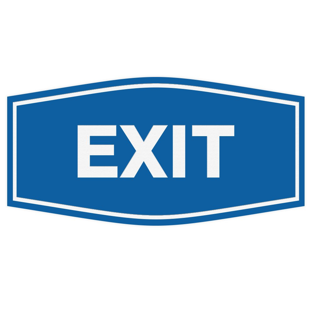 Amazon com: Fancy EXIT Sign (Black) - Large: Office Products