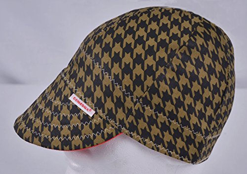 Comeaux Caps Reversible Welding Cap Black and Brown Houndstooth Size 7 1/4