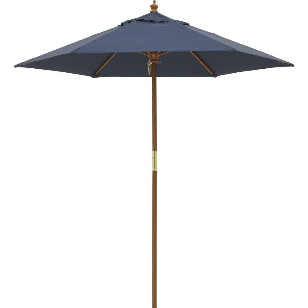 径210cm(ウッド支柱ガーデンパラソル) G46908(サイズはありません イ:ネイビー) B0794PN1RR イ:ネイビー イ:ネイビー