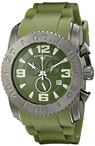 Swiss Legend Men's 10067-GM-017 Commander Analog Display Swiss Quartz Green Watch