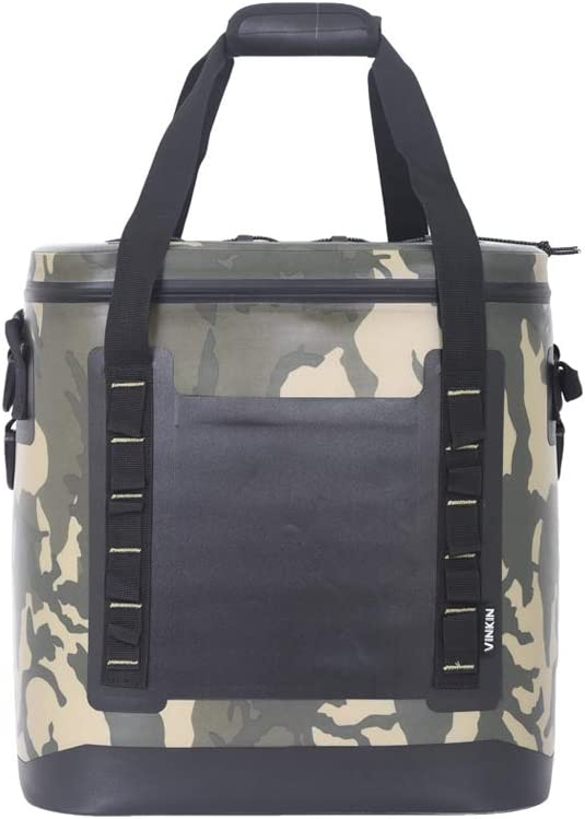 ARTST 42 Cans Soft Cooler Bag, 28L Heavy Duty Leak-Proof Waterproof Portable Insulated Coolers for Taking Lunch, Camping, Picnics, Sea Fishing, Trip to Beach (Camouflage)