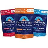 Kalahari Biltong   Air-Dried Thinly Sliced Beef   Variety Pack   2oz (Pack of 3)   Zero Sugar   Keto & Paleo   Gluten Free   Better than Jerky