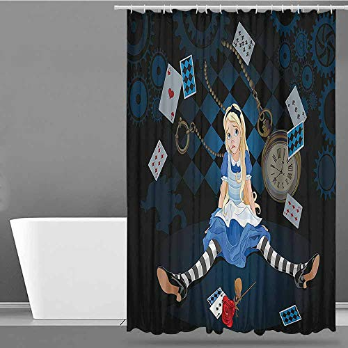 XXANS Shower stall Curtains,Alice in Wonderland Decorations,for Master, Kid's, Guest Bathroom,W60x72L Multi]()